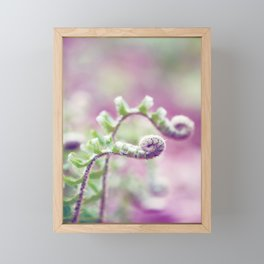 Ferns in Green, Purple, and Pink Framed Mini Art Print