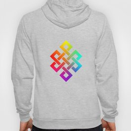 Eternity knot in rainbow colors Hoody