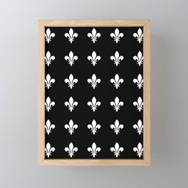 Fleur de lys 3-lis,lily,monarchy,king,queen,monarquia. Framed Mini Art Print