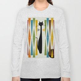 Mid-Century Modern Art Cat 2 Long Sleeve T-shirt