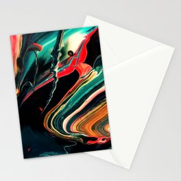 ABSTRACT COLORFUL PAINTING II-A Stationery Cards