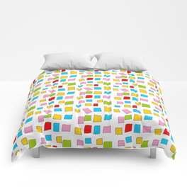 rectangle and abstraction 3-mutlicolor,abstraction,abstract,fun,rectangle,square,rectangled,geometri Comforters