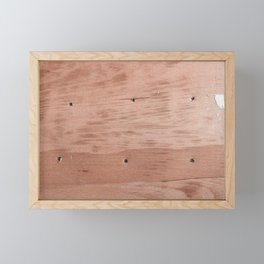 Plywood shipboard with nails and screws Framed Mini Art Print