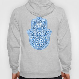 Blue Watercolor Hamsa Hand Hoody