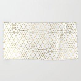 Modern Art Deco Geometric 1 Beach Towel