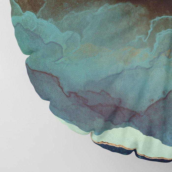Indigo Mountains Floor Pillow