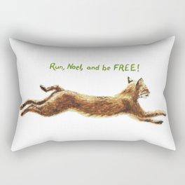 Noel Bobcat - Run Free Rectangular Pillow