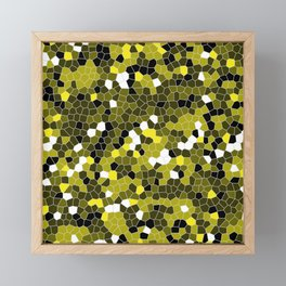 Yellow Polycamo Framed Mini Art Print