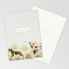 Close Your Eyes   Clear Your Mind Stationery Cards