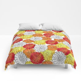 Dahlia Garden Summer Comforters