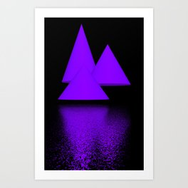 games with geometry -3- Art Print