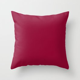 Colors of Autumn Chili Red - Deep Rich Pink Solid Color Throw Pillow