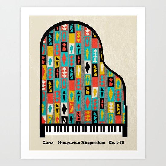 Liszt - Hungarian Rhapsodies Art Print