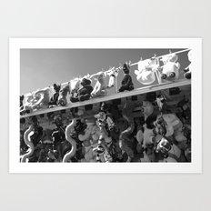 Roll Up, Roll Up, black&white Art Print