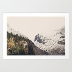 Winter Mountain Morning Art Print