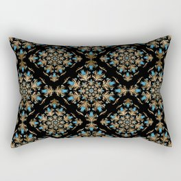 Turkish tulip - Ottoman tile pattern 14 Rectangular Pillow