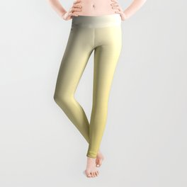 Canary Yellow Sunset Ombre Sun Pattern Leggings