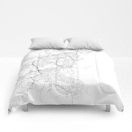 Minimal City Maps - Map Of Aarhus, Denmark. Comforters