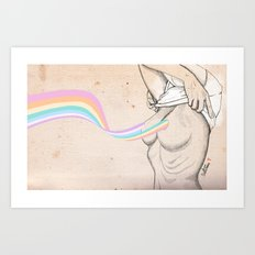 Rainbewbs Art Print