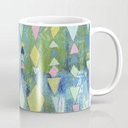 Geometric Slide in Cool Blue Coffee Mug