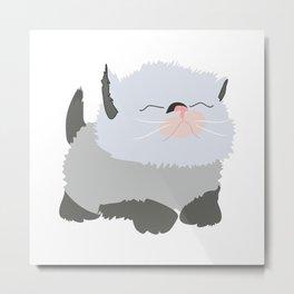 Siamese kitten cute pet cat lovers gift Metal Print