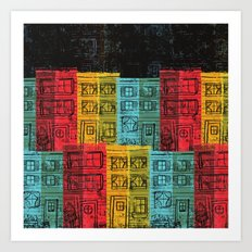 Rows of Houses  Art Print