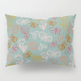 Bee with Flowers Pillow Sham
