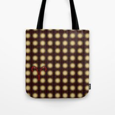 ARIES flower of life astrology sign pattern Tote Bag