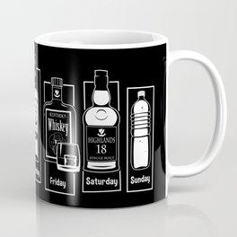 Coffee Whiskey Calendar Coffee Mug