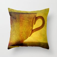 I would love a cup of tea ..... Throw Pillow