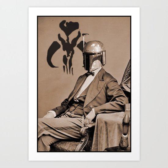 Portrait of Sir Fett Art Print