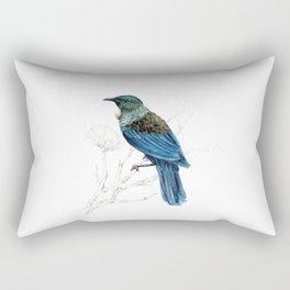 Tui, New Zealand native bird Rectangular Pillow