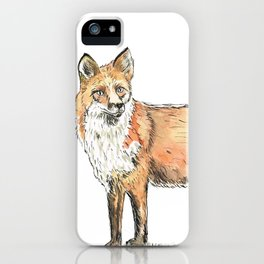 Fox watercolour and ink iPhone Case