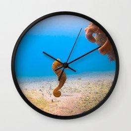 Tropical Seahorse Wall Clock