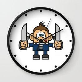 Kung Fu Cartoon Character 2 Wall Clock