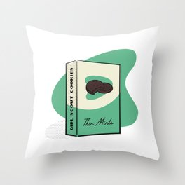 Girl Scout Cookies - Thin Mints Throw Pillow