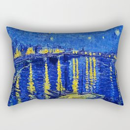 Starry Night Over Rhone Rectangular Pillow