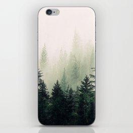 Foggy Pine Trees iPhone Skin