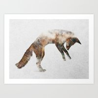 Art Prints featuring Jumping Fox by Andreas Lie