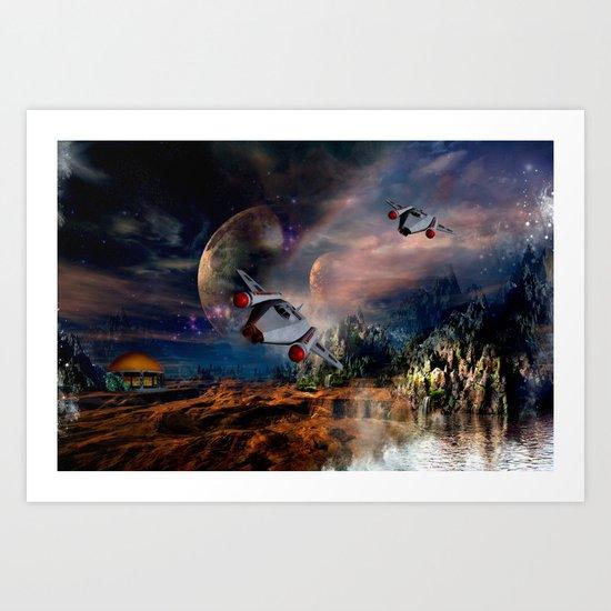 Planetary Encounter Art Print