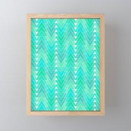 Geo Tile - Jade Empress Framed Mini Art Print