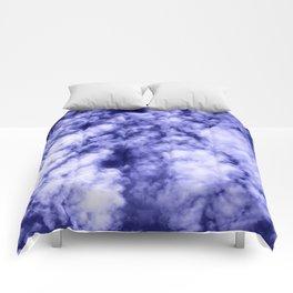 Clouds in a dark blue sky Comforters