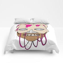Skull Head Street Art Design Comforters
