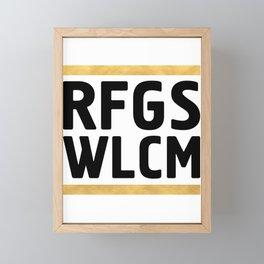 RFGS WLCM - Refugees Welcome Framed Mini Art Print