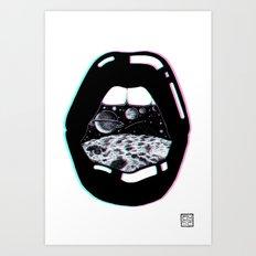 Space Lips Art Print