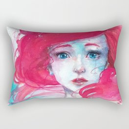 Princess Ariel - Little Mermaid has no tears Rectangular Pillow