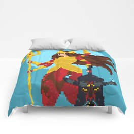 Durga Pixel Art Comforters