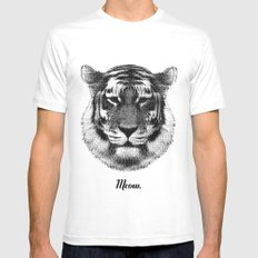 TIGER SAYS MEOW MEDIUM Mens Fitted Tee White