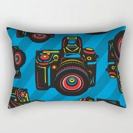Black Camera Rectangular Pillow