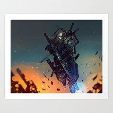 Heavy Fire Art Print